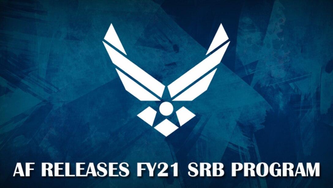 Af symbol on a Blue background, announcing the SRB program