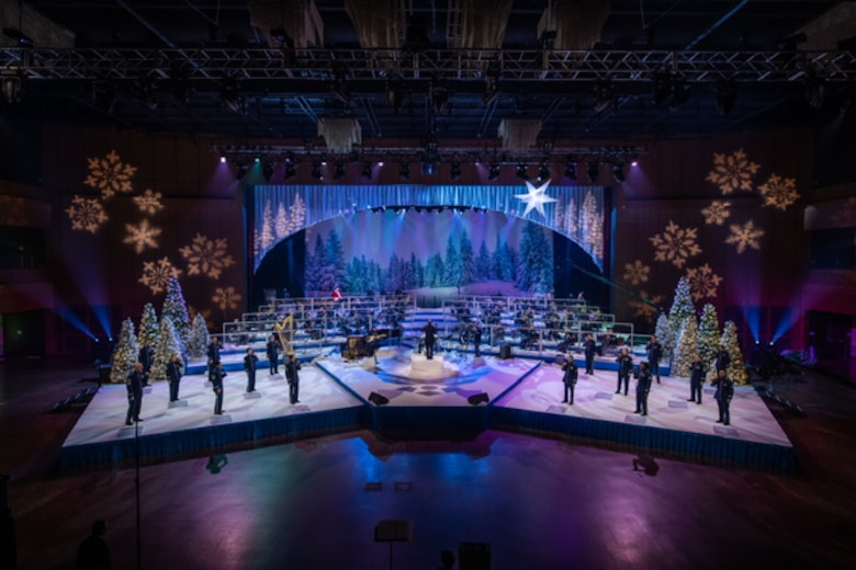 "Members of the U.S Air Force Concert Band and Singing Sergeants perform a special holiday concert entitled, ""Season of Hope,"" at the MGM National Harbor in Oxon Hill, Maryland. (U.S. Air Force photo by Chief Master Sgt. Kevin Burns)"