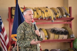 Adm. Craig Faller, commander of U.S. Southern Command, visited troops assigned to Joint Task Force-Bravo in Soto Cano Air Base, Honduras Dec. 11.