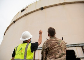 Looking at two fuel tanks for construction