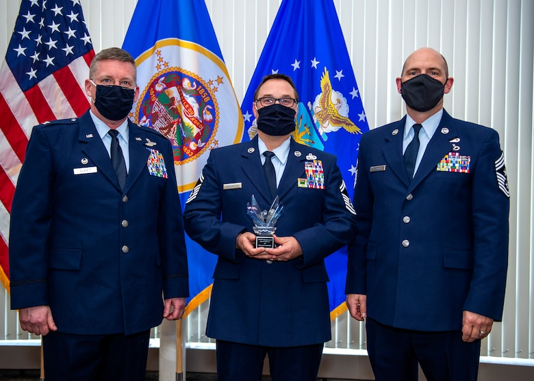 U.S. Air Force Airmen from the 133 Airlift Wing are recognized for their achievements at the annual Wing Awards Ceremony in St. Paul, Minn., Dec. 12, 2020.