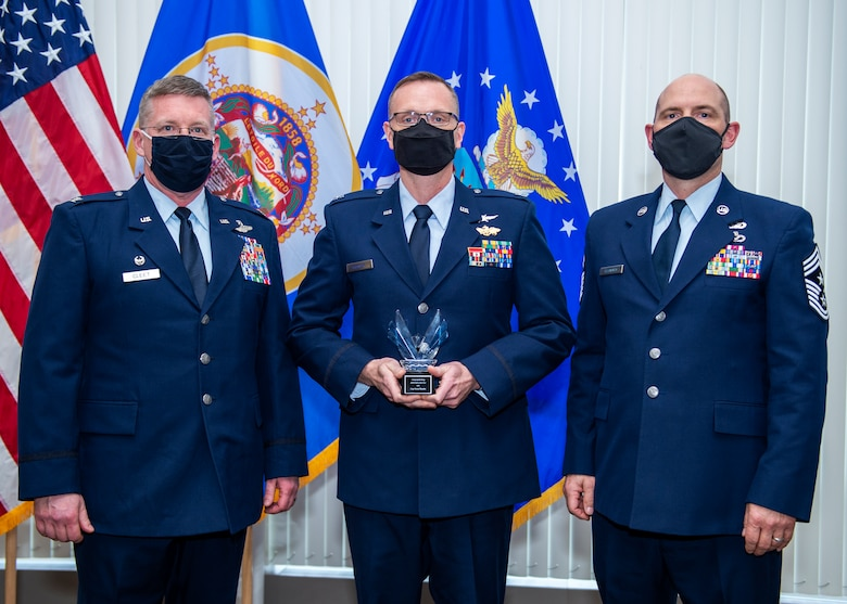 U.S. Air Force Airmen from the 133rd Airlift Wing are recognized for their achievements at the annual Wing Awards Ceremony in St. Paul, Minn., Dec. 12, 2020.