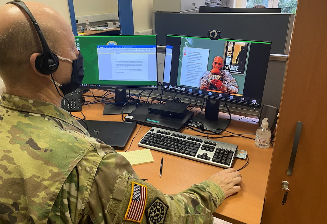 405th AFSB conducts suicide prevention, equal opportunity training virtually prior to holidays