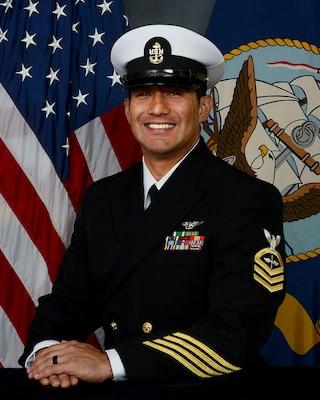 201215-N-N0443-1004 PENSACOLA, Fla. (Dec. 15, 2020) Official photo of Chief Aviation Machinist's Mate Jason Villarreal. (U.S. Navy photo)