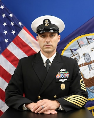 201215-N-N0443-1005 PENSACOLA, Fla. (Dec. 15, 2020) Official photo of Command Master Chief Jeremy Douglas. (U.S. Navy photo)