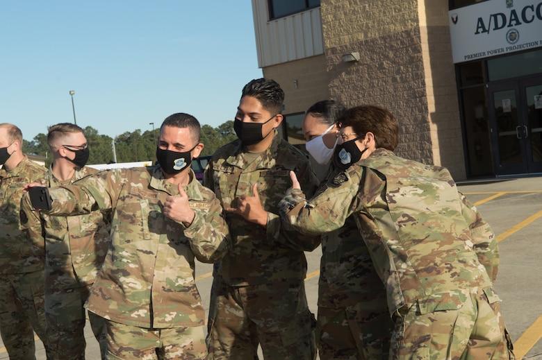 Photo of AMC leadership visit to Pope Army Airfield, N.C.