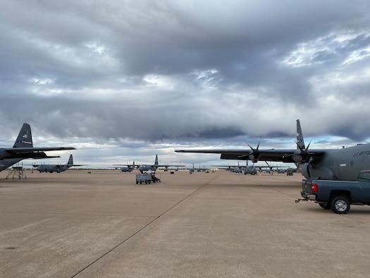planes sit on a flightline