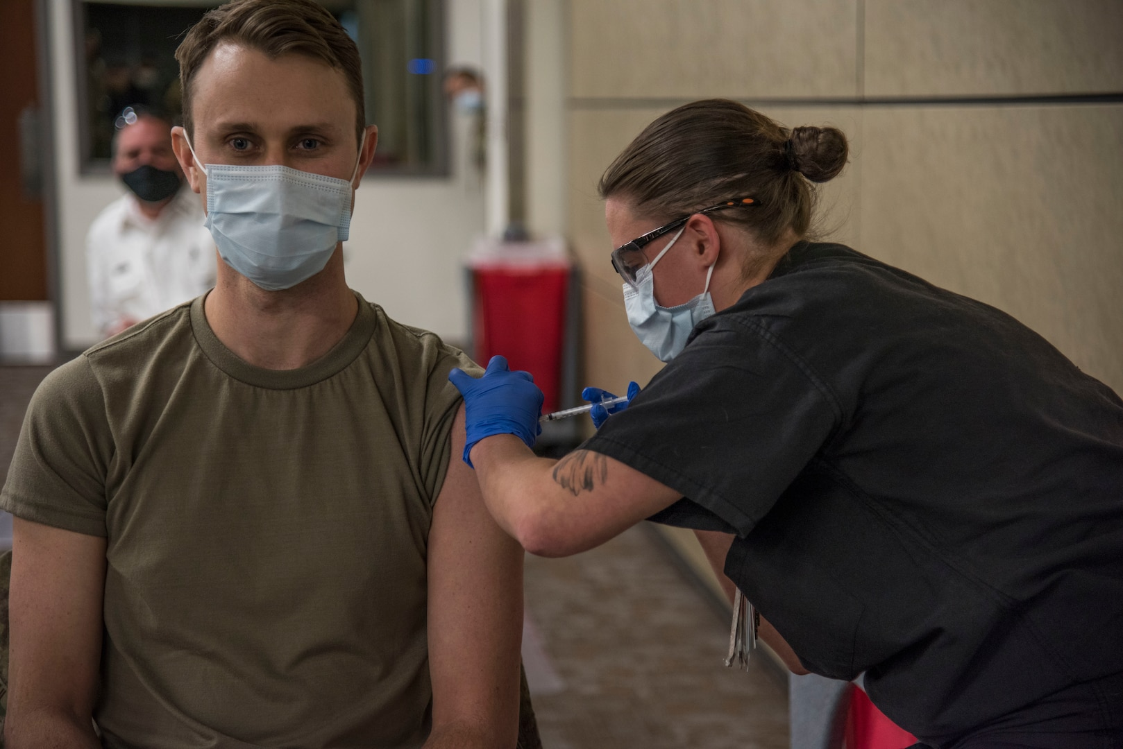 The Department of Defense is conducting a coordinated vaccine distribution strategy for prioritizing and administering COVID-19 vaccines.