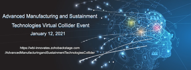 Advanced Manufacturing and Sustainment Technologies Virtual Collider Event, January 12, 2021. (Courtesy illustration)