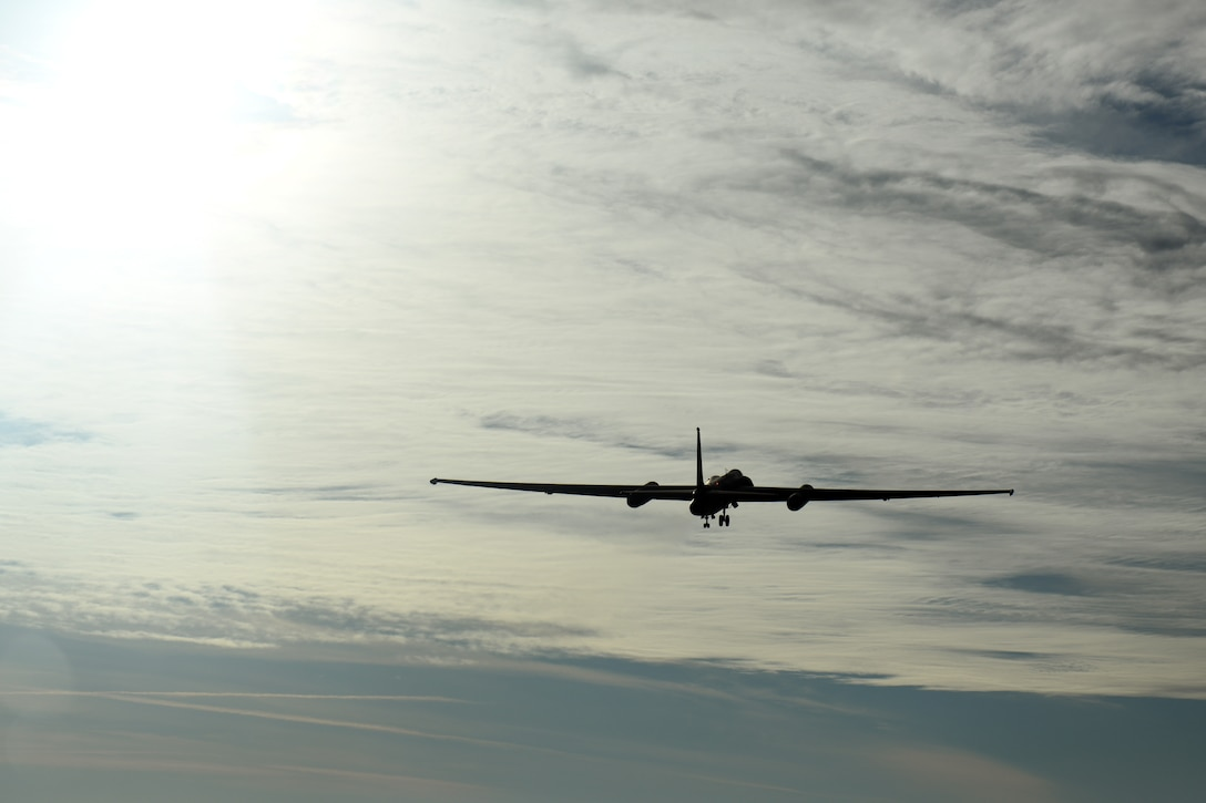 A U-2 Dragon Lady assigned to the 9th Reconnaissance Wing takes off from the runway at Beale Air Force, Calif., Dec. 15, 2020. This flight marks a major leap forward for national defense as artificial intelligence took flight aboard a military aircraft for the first time in the history of the Department of Defense. The AI algorithm, developed by Air Combat Command's U-2 Federal Laboratory, trained the AI to execute specific in-flight tasks that would otherwise be done by the pilot. The flight was part of a specifically constructed scenario pitting the AI against another dynamic computer algorithm in order to prove both the new technology capability, and its ability to work in coordination with a human. (U.S. Air Force photo by Airman 1st Class Luis A. Ruiz-Vazquez)