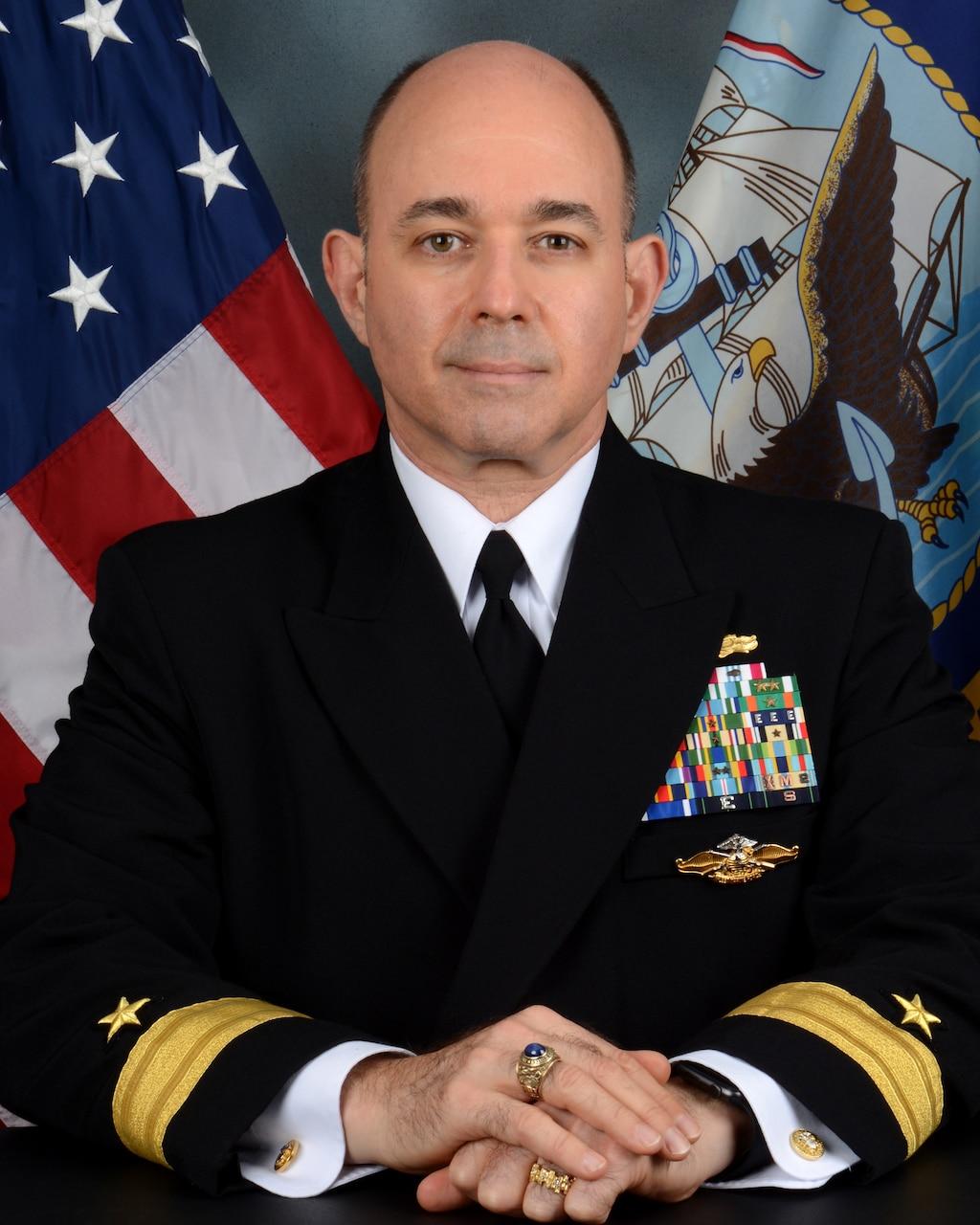 Studio portrait of Rear Admiral Marc S. Lederer