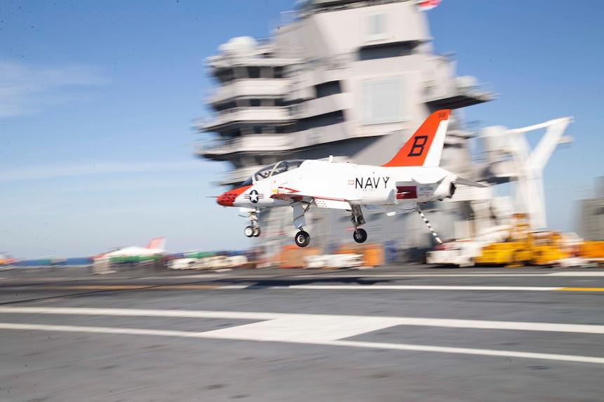 USS Gerald R. Ford (CVN 78) conducts flight operations.