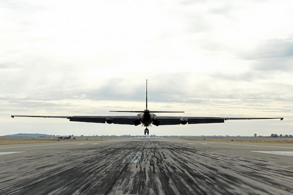 A U-2 pilot approaches a hangar to take flight in the first-ever military flight with artificial intelligence.
