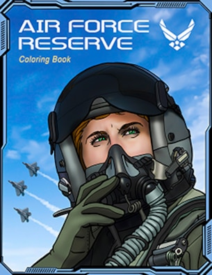 Air Force Reserve Coloring Book, 2nd Edition, released in December 2020 by the Air Force Reserve Command Office of History and Heritage.