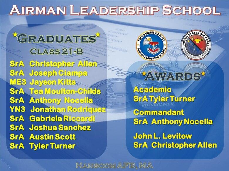 Airman Leadership School officials held a virtual graduation ceremony here for 10 junior enlisted members Dec. 17.