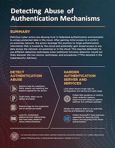 Detecting Abuse of Authentication Mechanisms Infographic
