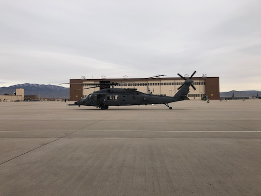 helicopter on a flight line