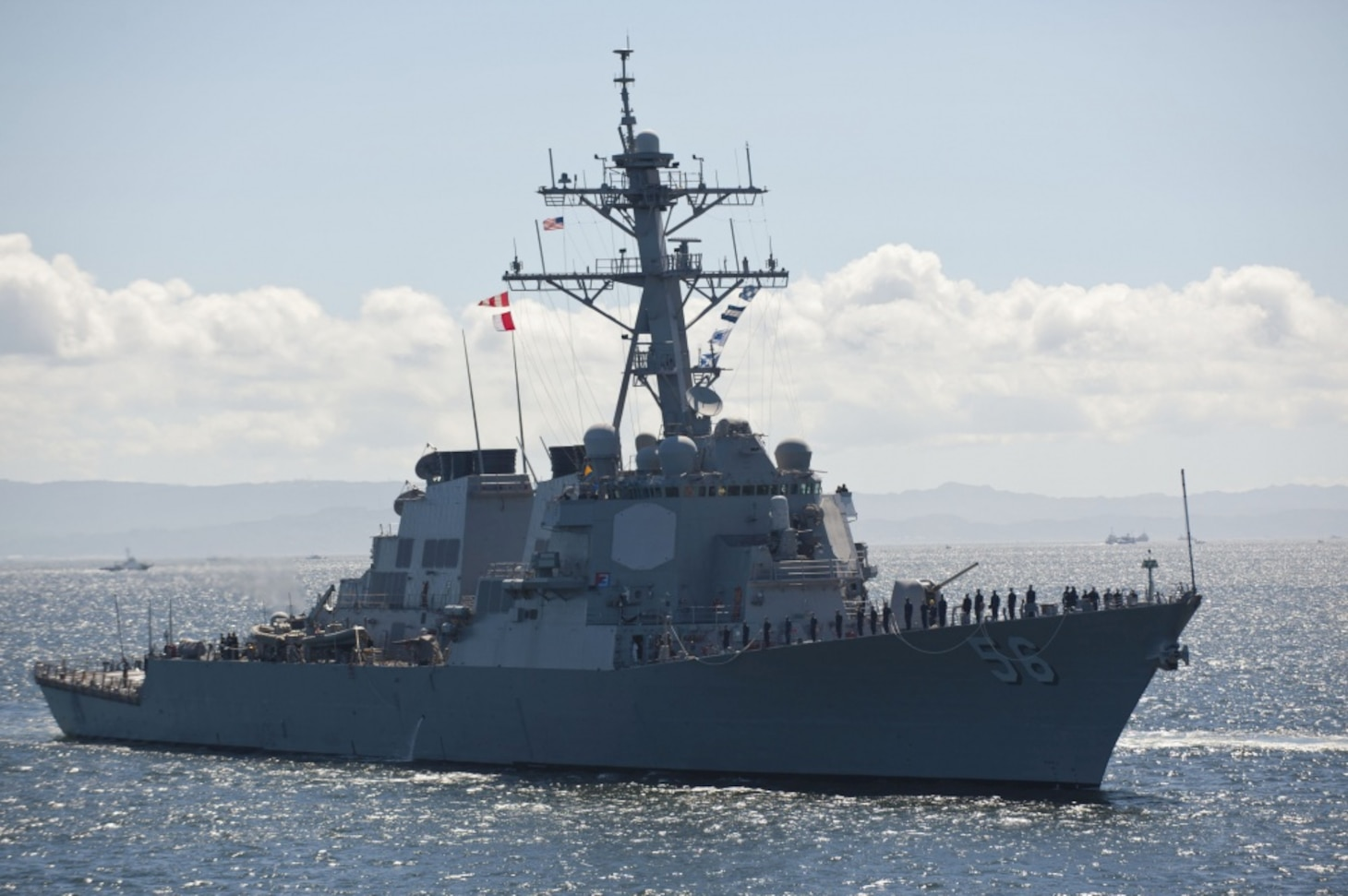 Official U.S. Navy file photo of Arleigh Burke-class guided-missile destroyer USS John S. McCain (DDG 56).