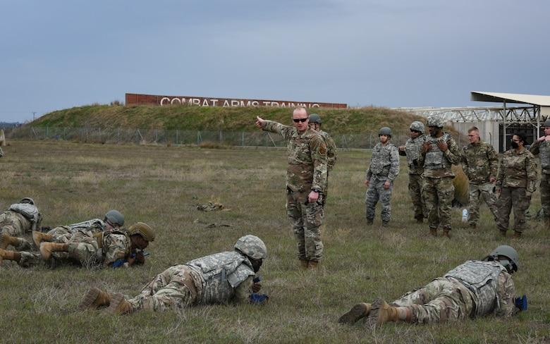 Airmen training in the field
