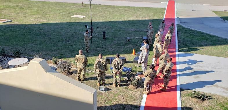 Airmen training outside