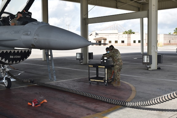 Members of the 926th Aircraft Maintenance Squadron provide maintenance support to the 482nd Fighter Wing, Homestead Air Reserve Base, Florida, Dec. 6-19, 2020. The 12 maintainers have been working at Homestead ARB in support of the 482nd's upcoming deployment.