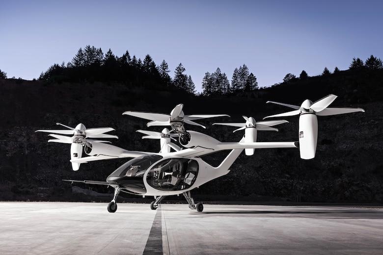 Joby Aviation's electric vertical take-off and landing (eVTOL) vehicle. (Photo courtesy Joby Aviation/Trevor Jolin)