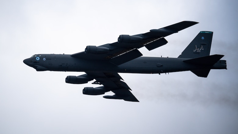 A B-52H Stratofortress takes off from Barksdale Air Force Base, La., Dec.14, 2020.