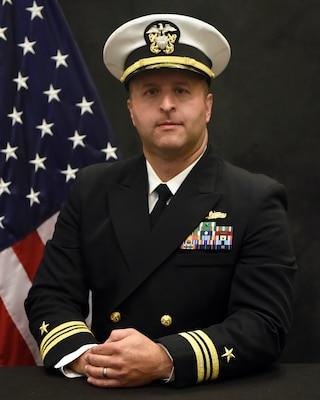 201221-N-N0443-1008 PENSACOLA, Fla. (Dec. 21, 2020) Official photo of Lt. Cmdr. Shaun Page. (U.S. Navy photo)