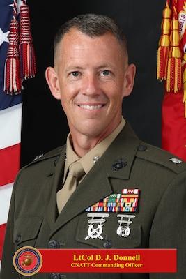 201221-N-N0443-1013 PENSACOLA, Fla. (Dec. 21, 2020) Official photo of Lt. Col. David J. Donnell. (U.S. Navy photo)