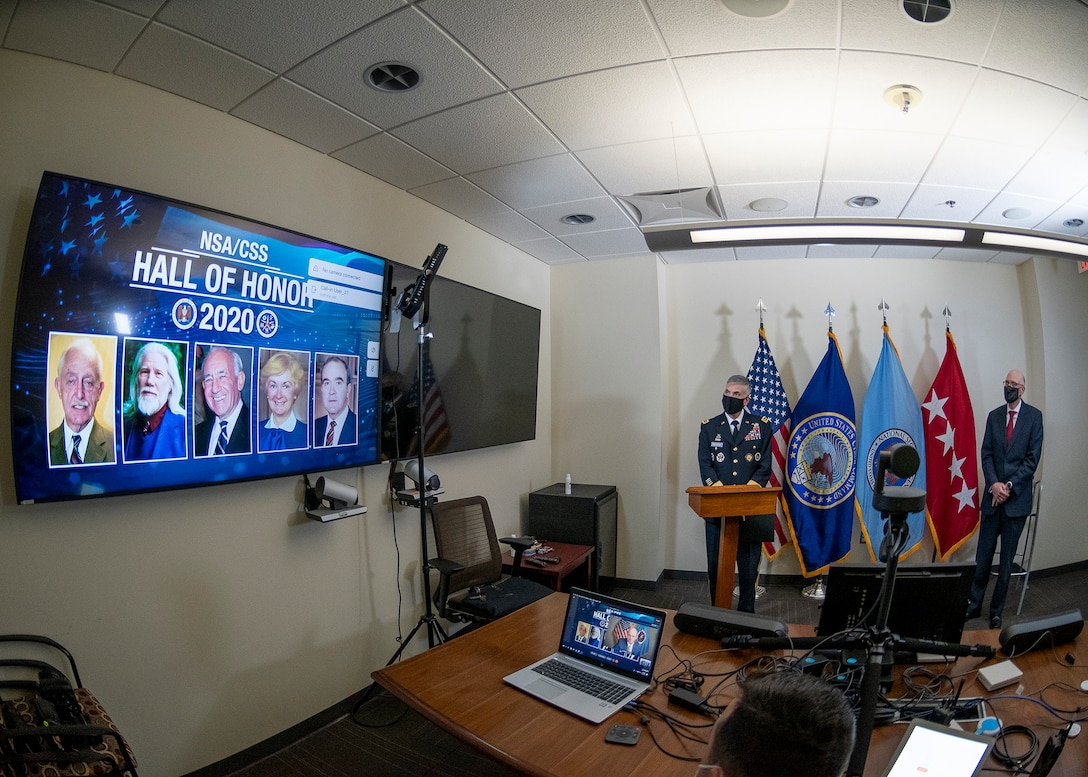 NSA improvised by hosting a virtual ceremony to honor the five inductees into the 2020 NSA/CSS Cryptologic Hall of Honor