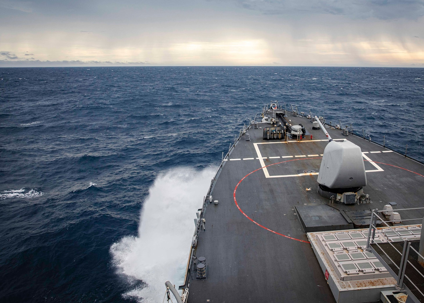 SOUTH CHINA SEA (Dec. 22, 2020) The Arleigh Burke-class guided-missile destroyer USS John S. McCain (DDG 56) transits through South China Sea while conducting routine underway operations. McCain is forward-deployed to the U.S. 7th Fleet area of operations in support of security and stability in the Indo-Pacific region. (U.S. Navy photo by Mass Communication Specialist 2nd Class Markus Castaneda)