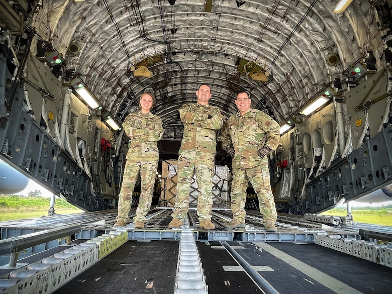As Christmas quickly approaches, the people of Belize received a much needed gift, in the form of nearly 7,200 lbs. of medical aid delivered via Charleston based C-17.  The donated humanitarian aid, consisting of mostly surgical equipment, was delivered by the 315th Airlift Wing from Joint Base Charleston, S.C., and was estimated to help more than a half-million people in Belize.