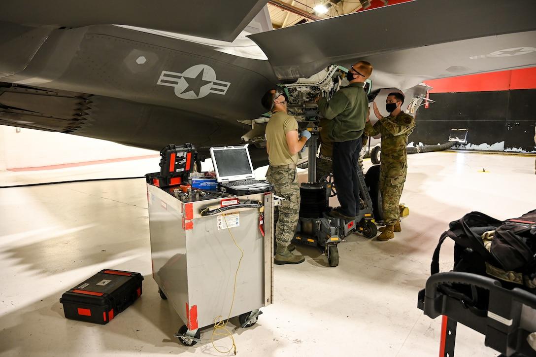 A photo of F-35A maintenance