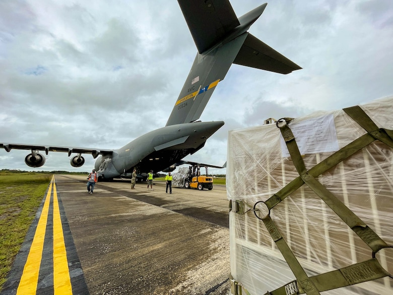 As Christmas quickly approaches, the people of Belize received a much needed gift, in the form of nearly 7,200 lbs. of medical aid delivered via Charleston based C-17.