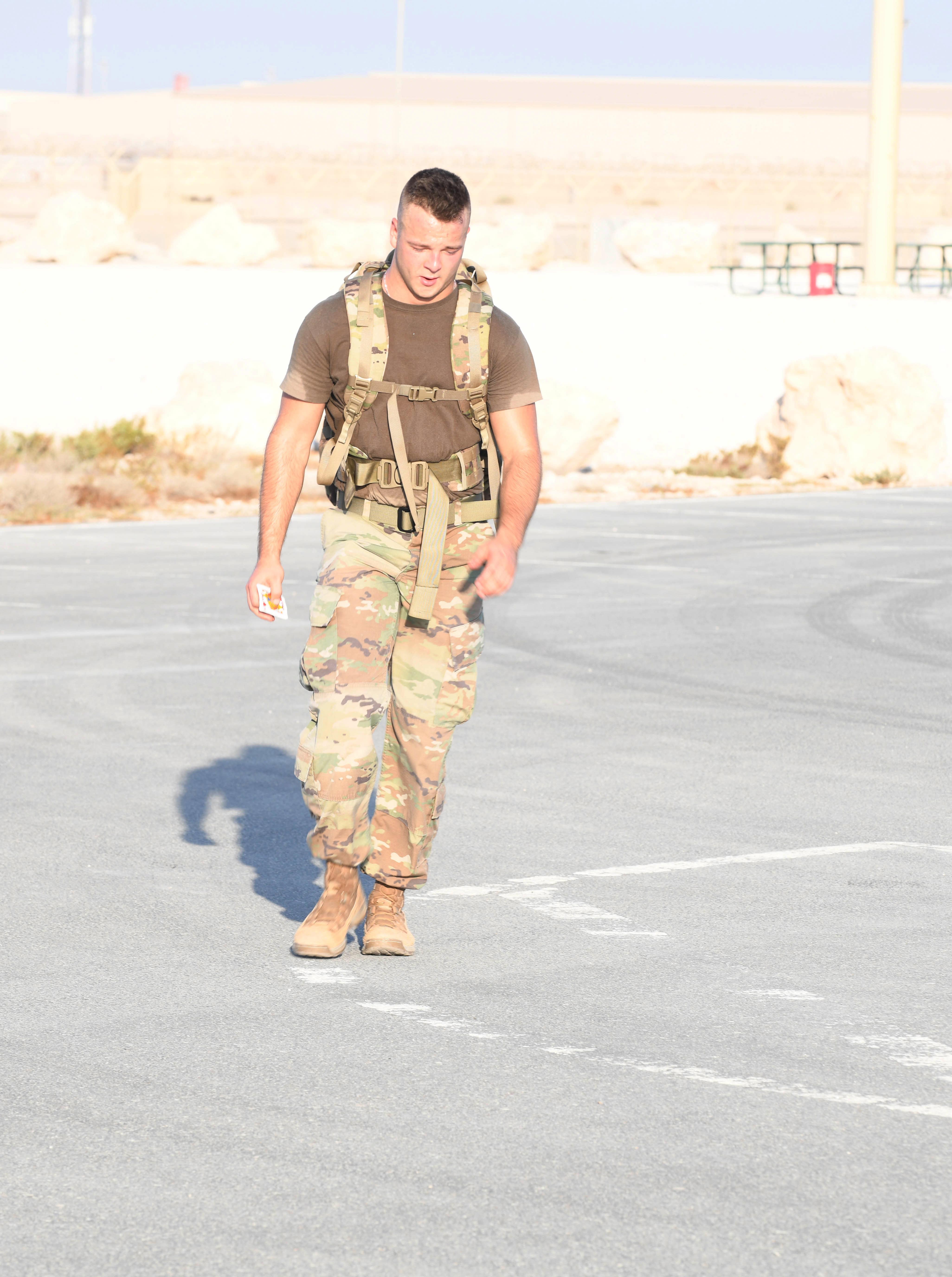 Al Udeid Ab Coalition Forces Complete 18 6 Mile Norwegian Foot March