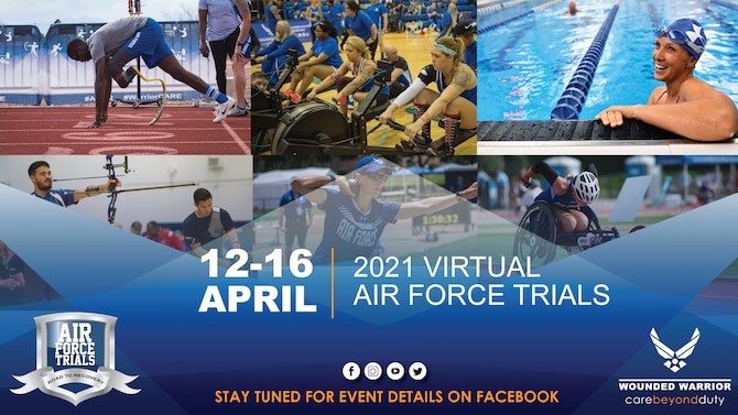 The Air Force Wounded Warrior Program (AFW2) is excited for Warriors to obtain their best at the 7th annual Air Force Trials! Given the current COVID–19 environment AFW2 will execute a virtual Air Force Trials (AFT) this year hosting virtual competitions, athlete classification and Warrior Games team selection.