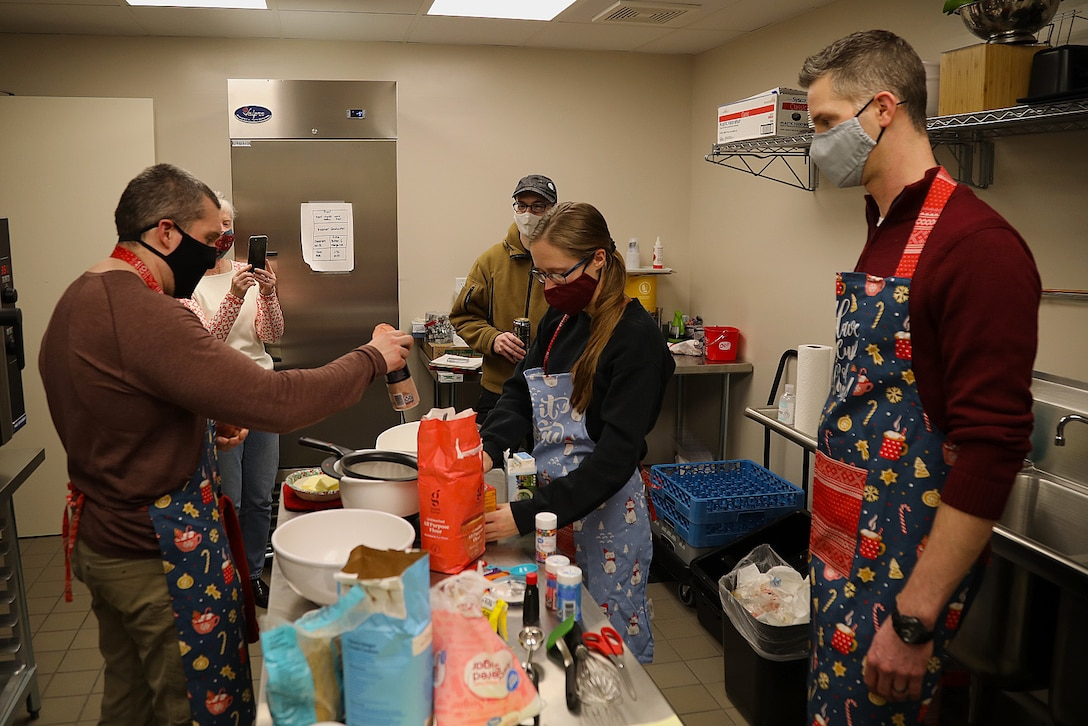 785th Medical Detachment Chaplains support a holiday cookie bake