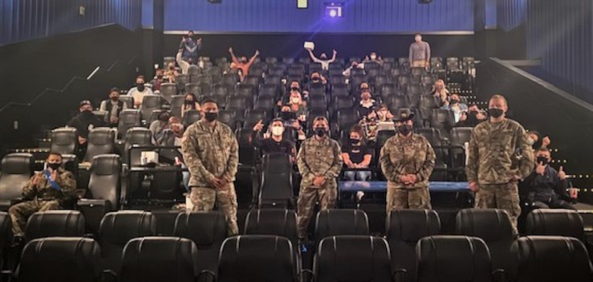The USO Countdown to Christmas is a traditional USO San Antonio program offered annually to military students remaining in San Antonio during holiday block leave. This year's activities included private events, like viewing movies, in which the students could enjoy activities together in an environment which kept them safe throughout the evolving safety regulations of COVID-19.