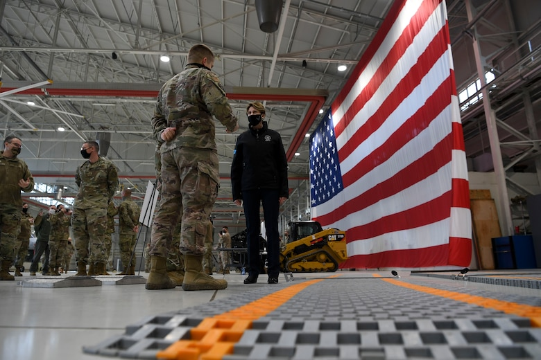 During their visit, the SECAF, Air Force Chief of Staff, and Chief Master Sergeant of the Air Force connected with Airmen and toured Aviano Air Base to emphasize the importance of the 31st Fighter Wing's mission.