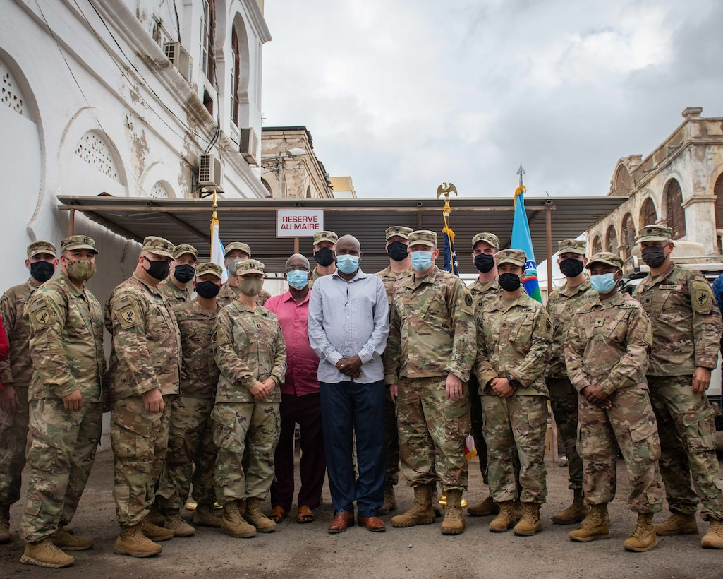 443rd Civil Affairs Battalion Delivers PPE to Djibouti City