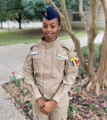 Second Lt. Hissein Haoua of the Republic of Chad air force is of one of the first two women in that service to become a pilot.