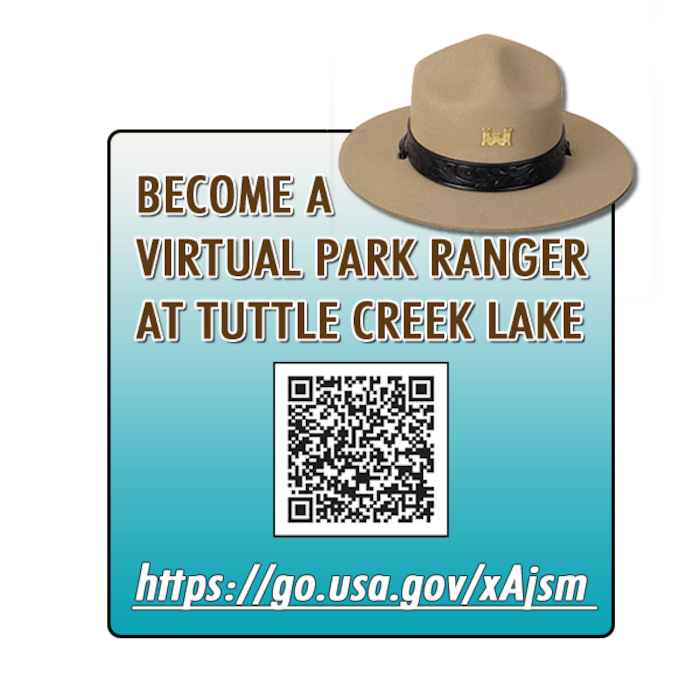 Discover the wonders of Tuttle Creek with a self-guided experiences.  QR codes are posted on signs at stations around the lake. Use a barcode scanner on your smart phone to read the QR codes.  Virtual rangers will provide information at each station.