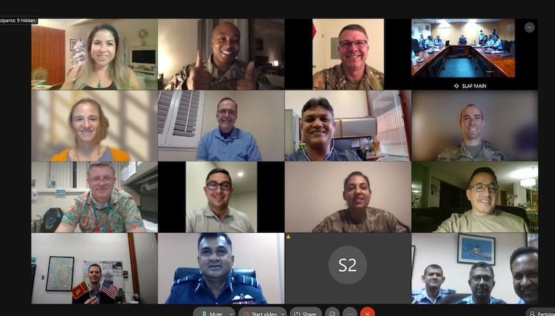 Photo of the first virtual and fourth annual Airmen-to-Airmen Talk hosted from Hickam Air Force Base, Hawaii, Dec. 15, 2020