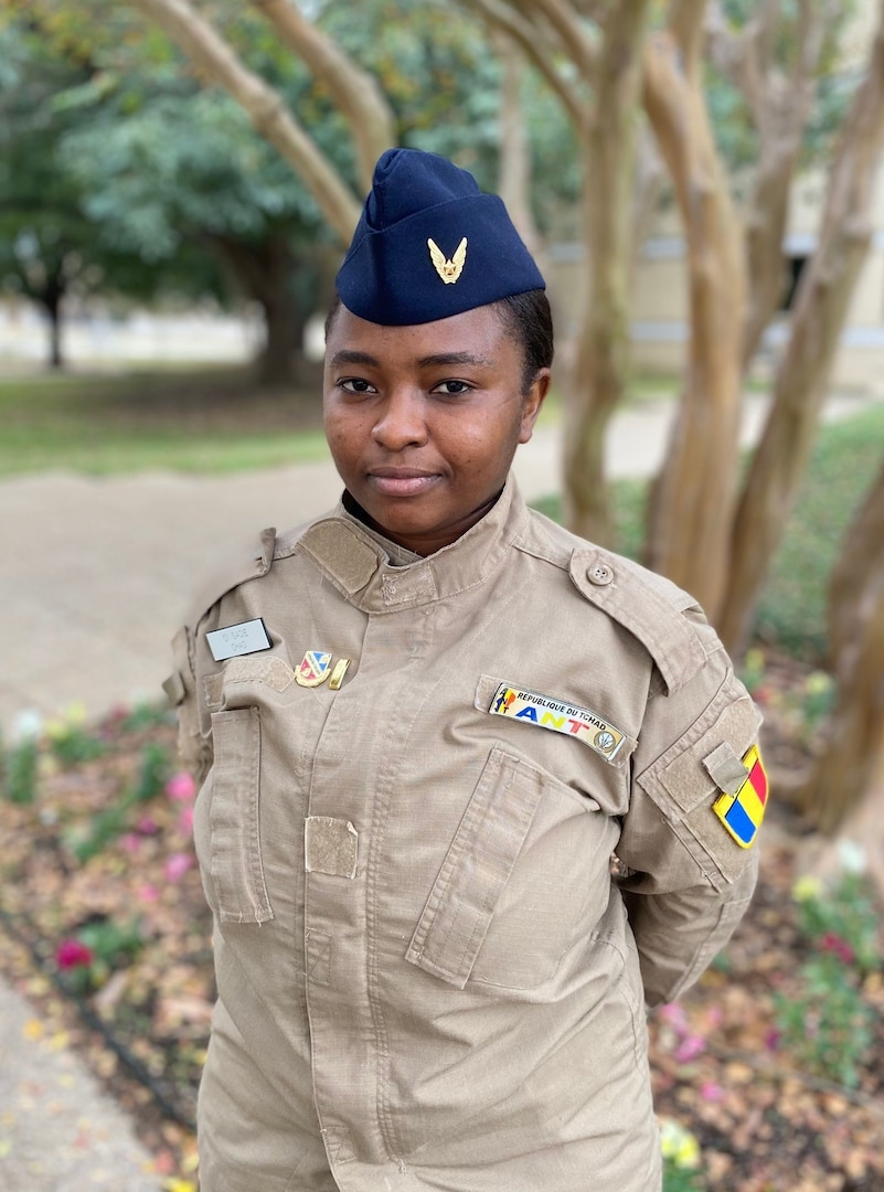 Second Lt. Ahmat Sadie of the Republic of Chad air force is one of the first two women in that service to become a pilot.