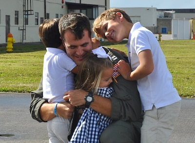 Service member and his family