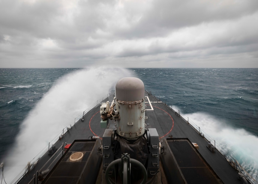 USS John S. McCain (DDG 56) conducts routine underway operations in support of stability and security for a free and open Indo-Pacific.