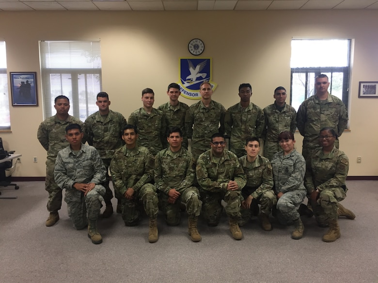 Students from Genesis pose for a group photo in spring 2020 at Beale Air Force Base, California.