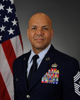 U.S. Air Force Chief Master Sgt. Daniel Guzman, 92nd Air Refueling Wing command chief.