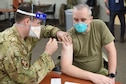 Members from the 341st Missile Wing Medical Group receive the first round of COVID-19 vaccines, Dec. 31, 2020, at Malmstrom Air Force Base, Mont.