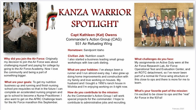 KANZA Warrior Spotlight February
